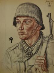 """<a href=""""http://wolfgang-willrich.de/page/werkverzeichnis/nach-motiven/koepfe/soldaten/heer/Germer_Alfred.php"""" target=""""_self"""">Weitere Informationen - bitte hier klicken </a>"""