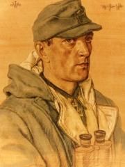 """<a href=""""http://wolfgang-willrich.de/page/werkverzeichnis/nach-motiven/koepfe/soldaten/heer/Hlauschka_Johann.php"""" target=""""_self"""">Weitere Informationen - bitte hier klicken </a>"""