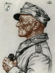 """<a href=""""http://wolfgang-willrich.de/page/werkverzeichnis/nach-motiven/koepfe/soldaten/heer/Meindl_Eugen_1.php"""" target=""""_self"""">Weitere Informationen - bitte hier klicken </a>"""
